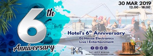 6th Anniversary at KC Beach Club & Pool Villas
